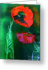 Still Life With Poppies. Greeting Card