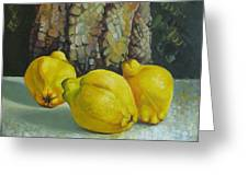 Still Life With Quinces Greeting Card