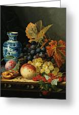 Still Life With Rasberries Greeting Card