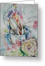Still Life With Rose Greeting Card