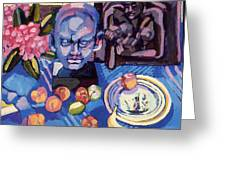 Still Life With Sculpture Greeting Card