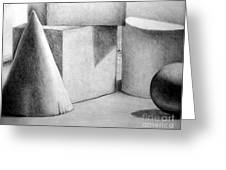 Still Life With Shapes Greeting Card