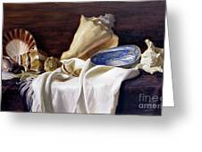 Still Life With Shells Greeting Card