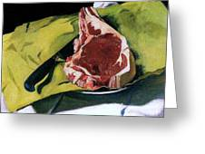 Still Life With Steak Greeting Card