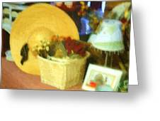 Still Life With Straw Hat Greeting Card