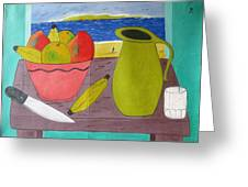 Still Life With Sunsed Greeting Card