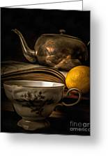 Still Life With Tea Cup Greeting Card