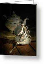 Still Life With Tea Set Greeting Card