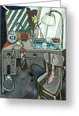 Still Life With Tennis Racket Greeting Card