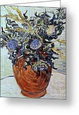 Still Life With Thistles Greeting Card