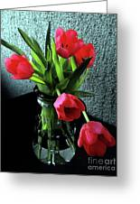 Still Life With Tulips Greeting Card