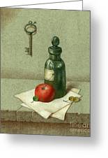 Still Life With Vial Greeting Card