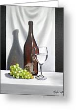 Still Life With White Wine Greeting Card