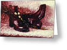 Still Life With Winter Shoes - 1 Greeting Card