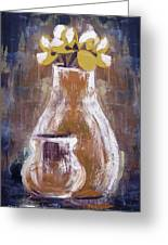 Still Life With Yellow Flowers Greeting Card