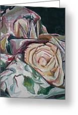 Still Life With Yellow  Rose Greeting Card