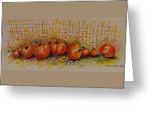 Still Life With Tomatoes Greeting Card
