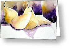 Still Of Pears Greeting Card