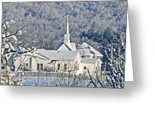 Still The Little White Church In Peoria Greeting Card