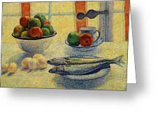 Stilleven Met Vis 1885 Greeting Card