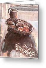 Stillife With Onions Greeting Card