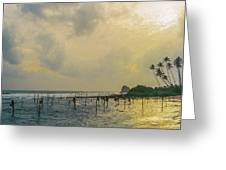 Stilt Fisherman Greeting Card