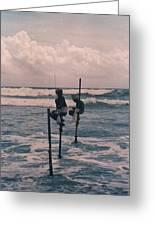 Stilt Fishermen Of Sri Lanka Greeting Card