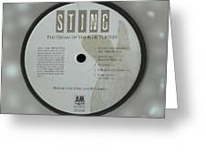 Sting Dream Of The Blue Turtles Lp Label Greeting Card