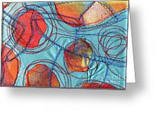 Stitched Waterways 4  Greeting Card