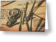 Stitching The Worn Greeting Card