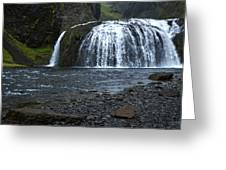 Stjornarfoss Waterfall - Iceland Greeting Card