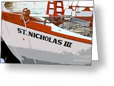 St.nicholas Three Greeting Card