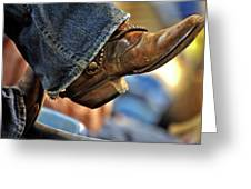 Stock Show Boots I Greeting Card