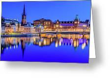 Stockholm Blue Hour Postcard Greeting Card