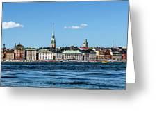 Stockholm From Lake Malaren Greeting Card