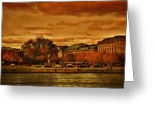 Stockholm In Autumn Vi Greeting Card