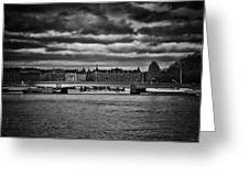 Stockholm In Black And White Greeting Card