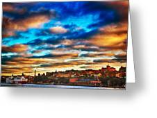 Stockholm In Bold Colors Greeting Card