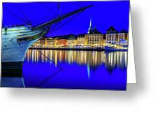 Stockholm Old City Blue Hour Serenity Greeting Card