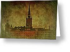 Stockholm Painting V Greeting Card