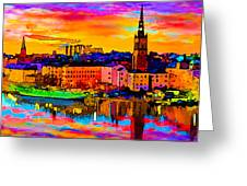 Stockholm Reflective Art Greeting Card