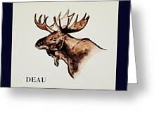 Stockholms' Moose Greeting Card
