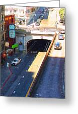 Stockton Street Tunnel In Heavy Shadow . Long Version Greeting Card