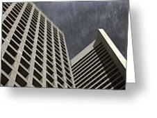 Stoic Buildings Greeting Card