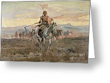 Stolen Horses Greeting Card by Charles Marion Russell
