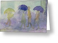 Stomping In The Rain Greeting Card