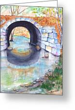 Stone Arch Bridge Dunstable Greeting Card