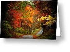 Stone Bridge Road Greeting Card by Joyce Kimble Smith