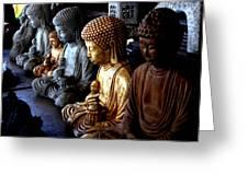 Stone Buddhas Greeting Card