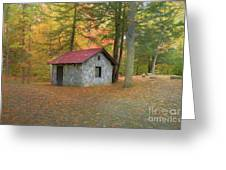 Stone Building In Autumn Greeting Card